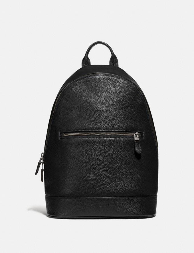 Coach West Slim Backpack Black/Black Antique Nickel Explore Men Explore Men Bags