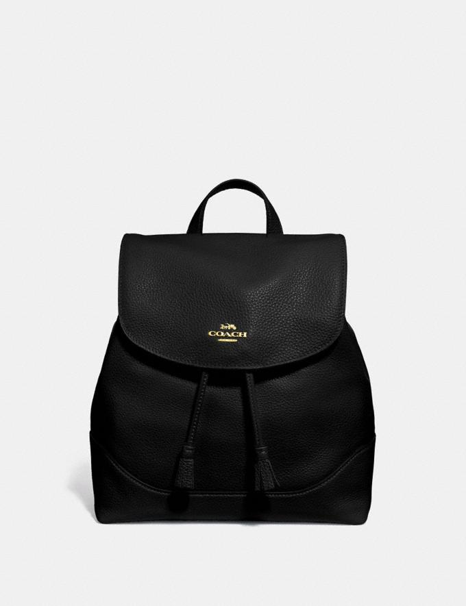 Coach Elle Backpack Black/Imitation Gold