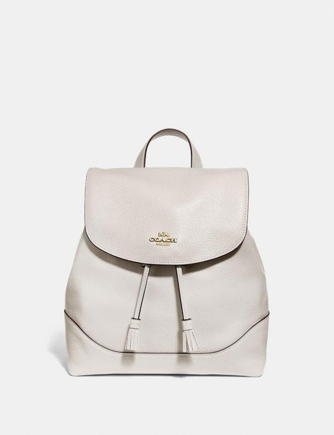 Coach Elle Backpack Chalk/Imitation Gold Women Bags
