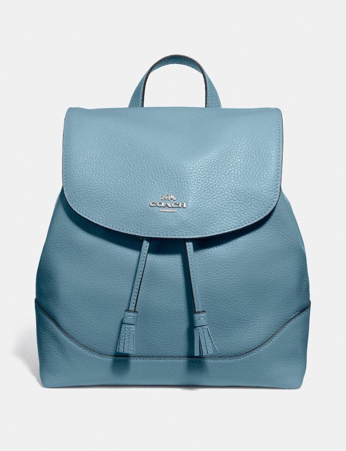 Coach Elle Backpack Cornflower/Silver Explore Bags Bags Backpacks