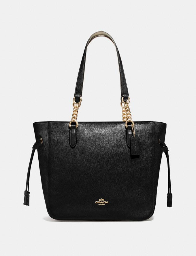 Coach Elle Chain Tote Black/Imitation Gold Explore Bags Bags Business Bags