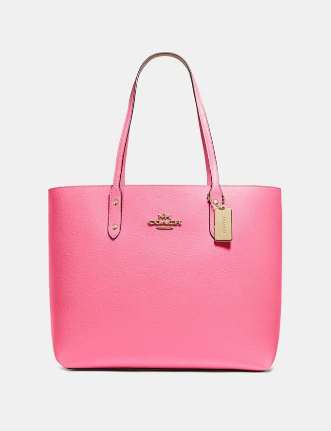 Coach Town Tote Pink Ruby/Imitation Gold Explore Bags Bags Totes