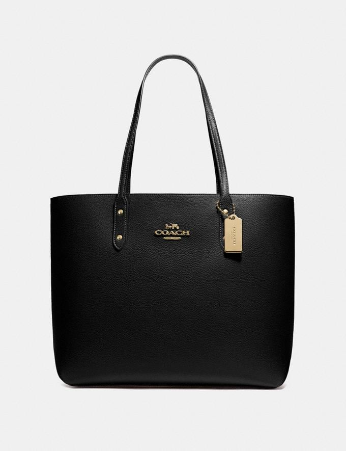 Coach Town Tote Black/Imitation Gold