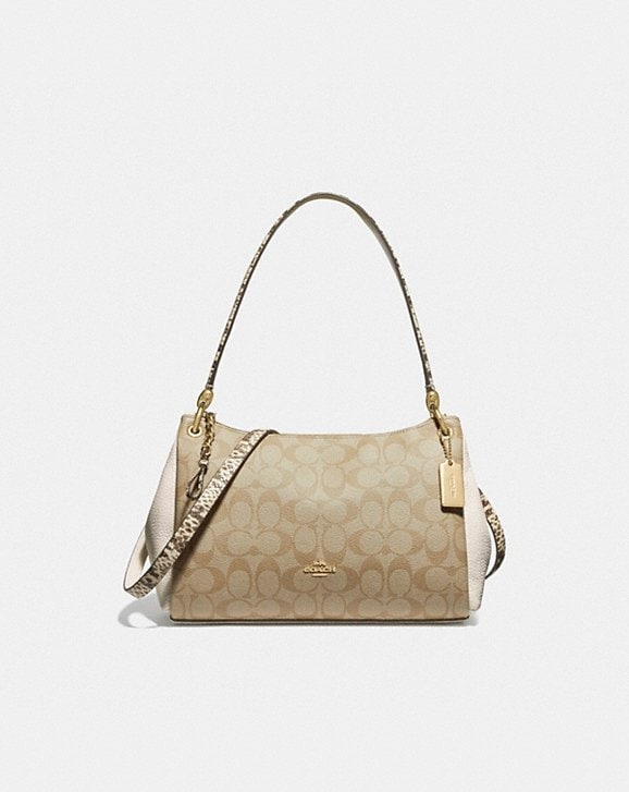 Coach SMALL MIA SHOULDER BAG IN SIGNATURE CANVAS