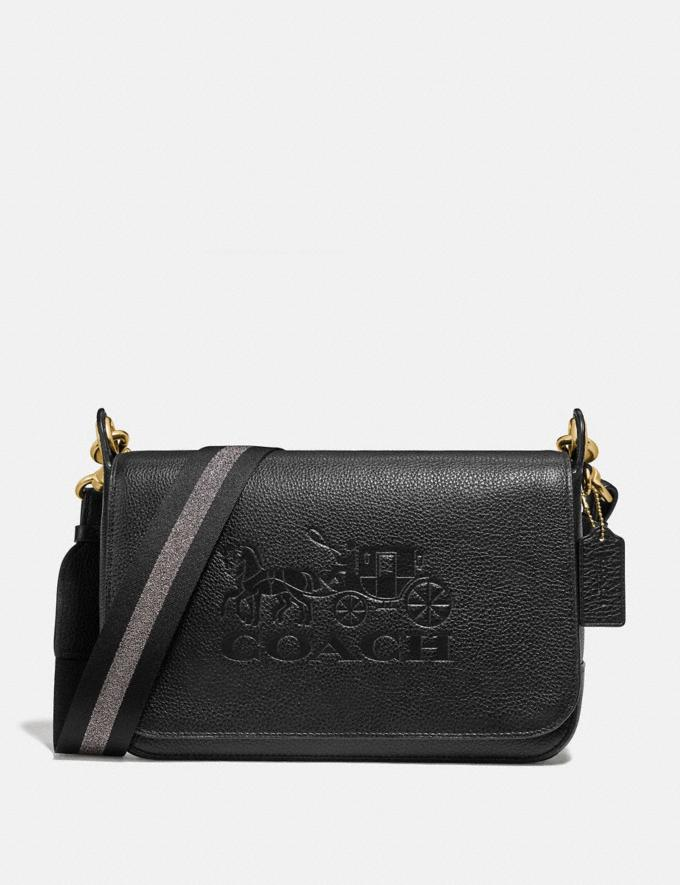 Coach Jes Messenger Black/Gold