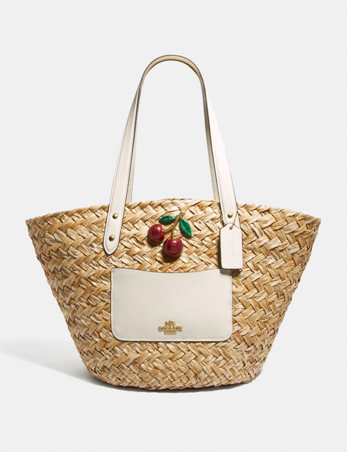 Coach Outlet Straw Basket Tote With