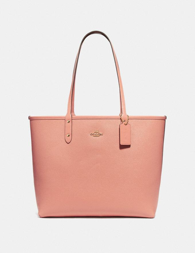 Coach Reversible City Tote With Allover Rainbow Print Chalk/Light Coral/Gold Explore Bags Bags Totes Alternate View 1