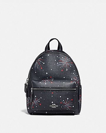 MINI CHARLIE BACKPACK WITH FIREWORKS PRINT
