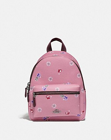DISNEY X COACH MINI CHARLIE BACKPACK WITH SNOW WHITE AND THE SEVEN DWARFS GEMS PRINT
