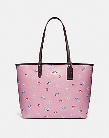 DISNEY X COACH REVERSIBLE CITY TOTE WITH SNOW WHITE AND THE SEVEN DWARFS GEMS PRINT