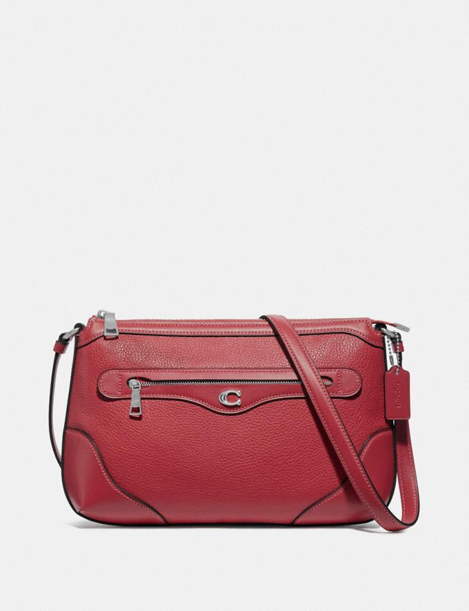 Coach Ivie Messenger Washed Red/Silver Explore Bags Bags