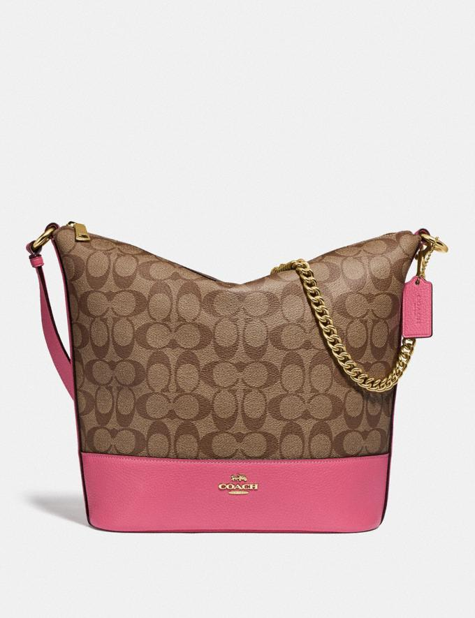 Coach Paxton Duffle in Signature Canvas Khaki/Pink Ruby/Gold Explore Bags Bags Shoulder Bags