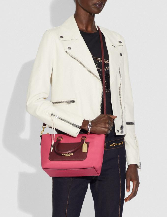 Coach Mini Emma Satchel in Colorblock Pink Ruby/Gold Explore Bags Bags Satchels Alternate View 2