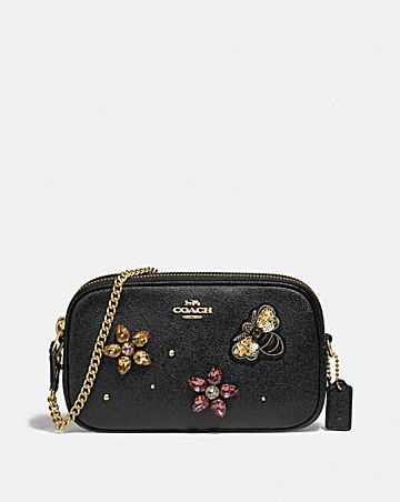 CROSSBODY POUCH WITH GEMSTONES
