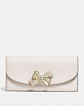 SLIM ENVELOPE WALLET WITH BOW TURNLOCK
