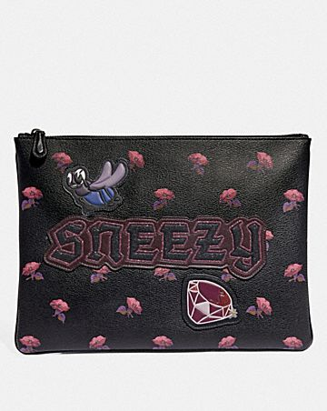 DISNEY X COACH LARGE WRISTLET 30 WITH SNEEZY