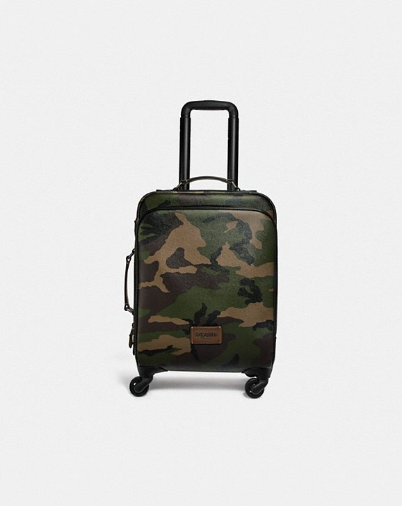 Coach WHEELED CARRY ON WITH CAMO PRINT