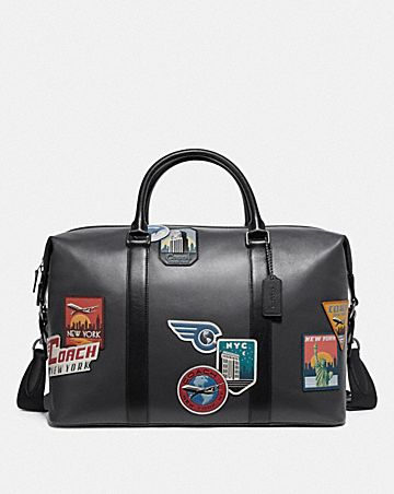 VOYAGER BAG WITH TRAVEL PATCHES