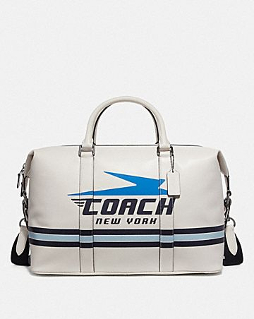 VOYAGER BAG WITH VINTAGE COACH MOTIF