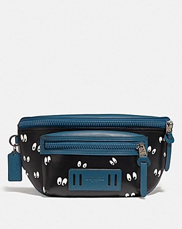 DISNEY X COACH TERRAIN BELT BAG WITH SNOW WHITE AND THE SEVEN DWARFS EYES PRINT