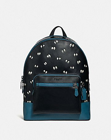 DISNEY X COACH WEST BACKPACK WITH SNOW WHITE AND THE SEVEN DWARFS EYES PRINT