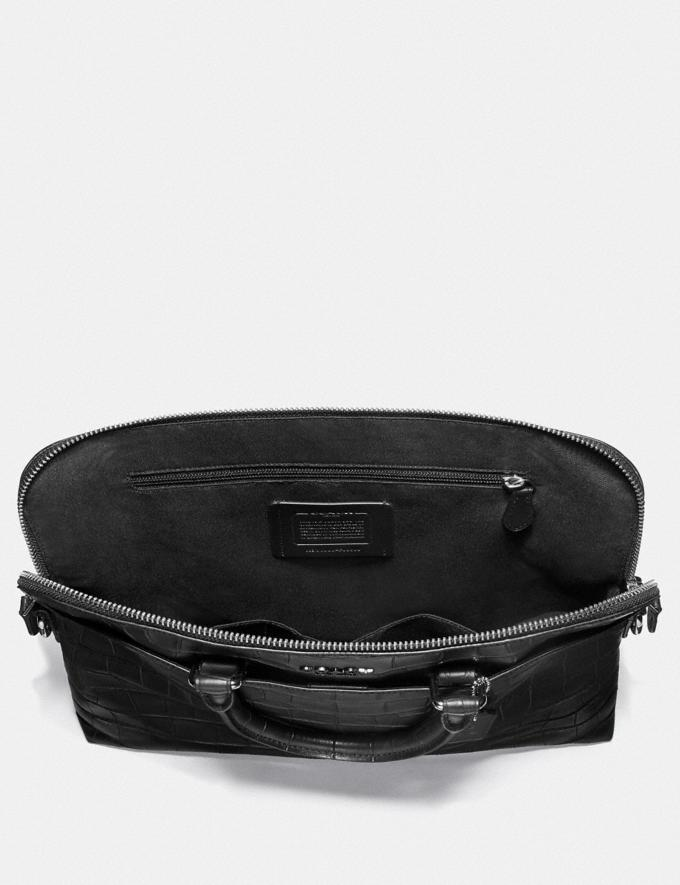 Coach Beckett Portfolio Brief Black/Nickel Explore Men Explore Men Bags Alternate View 1