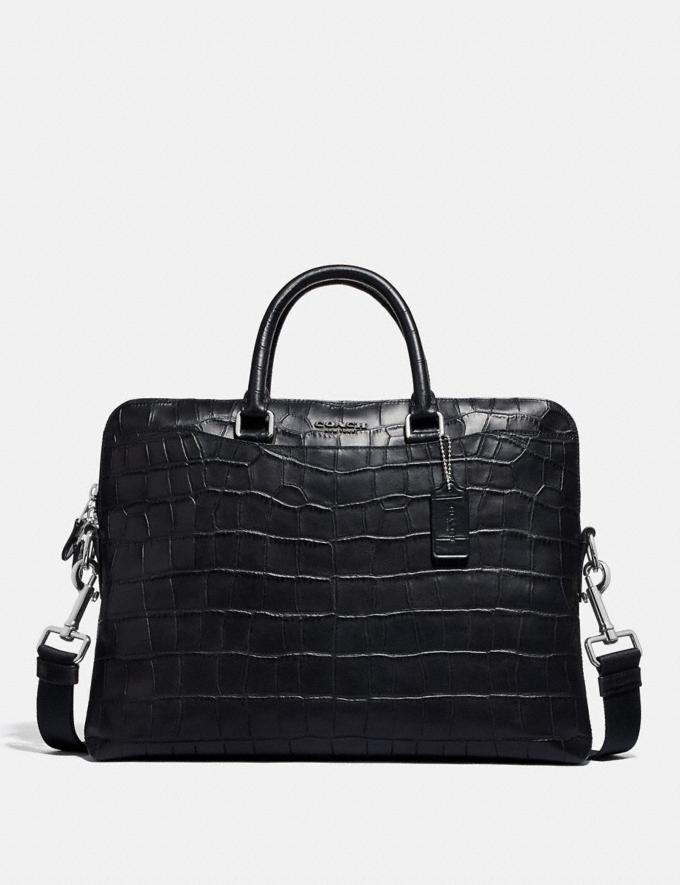 Coach Beckett Portfolio Brief Black/Nickel Explore Men Explore Men Bags