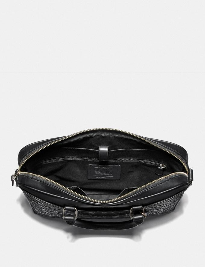Coach Beckett Compact Brief in Signature Leather Black/Nickel Men Bags Alternate View 1