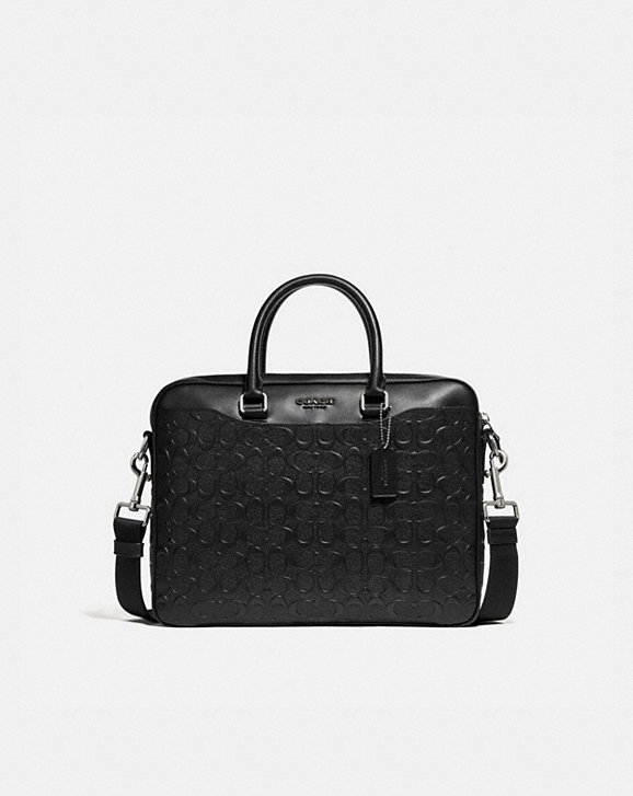 Coach BECKETT COMPACT BRIEF IN SIGNATURE LEATHER