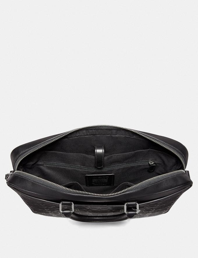 Coach Beckett Slim Brief in Signature Leather Midnight Navy Explore Men Explore Men Bags Alternate View 1