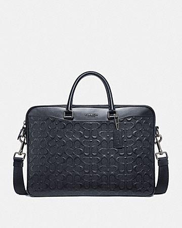 beckett slim brief in signature leather