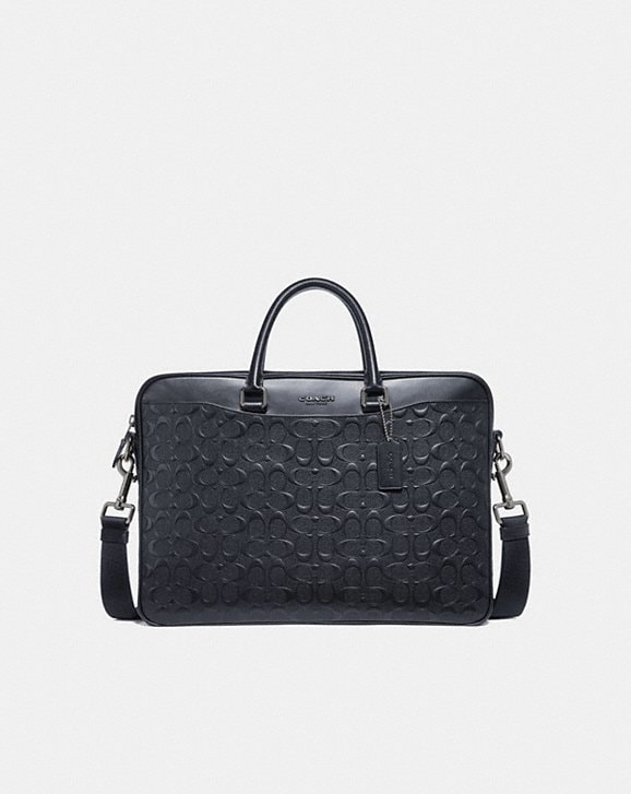 Coach BECKETT SLIM BRIEF IN SIGNATURE LEATHER