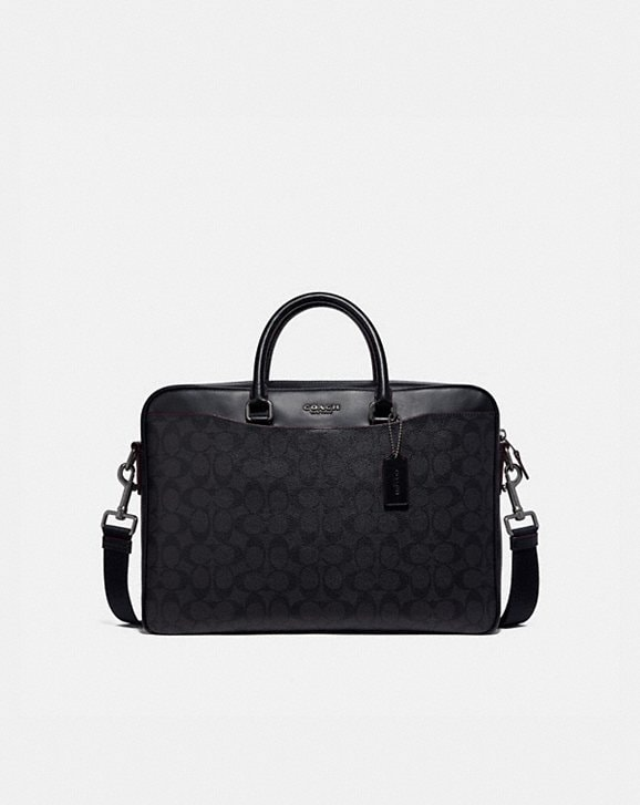 Coach BECKETT SLIM BRIEF IN SIGNATURE CANVAS