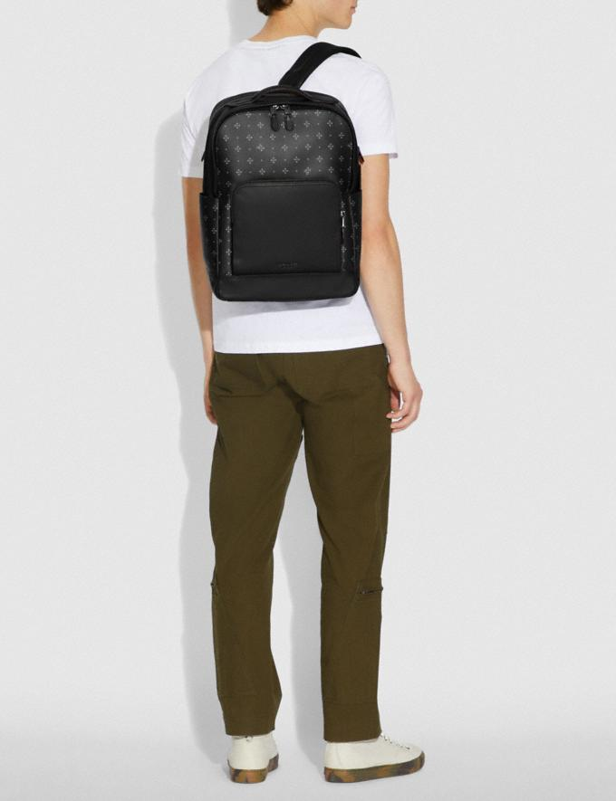 Coach Graham Backpack With Diamond Foulard Print Black/Multi Explore Men Explore Men Travel Alternate View 2