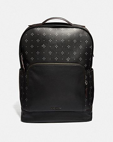 GRAHAM BACKPACK WITH DIAMOND FOULARD PRINT