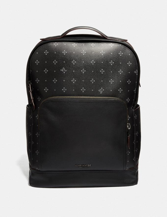 Coach Graham Backpack With Diamond Foulard Print Black/Multi Explore Men Explore Men Travel