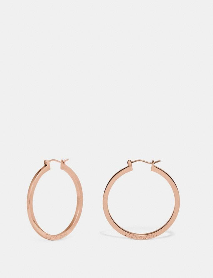 Coach Hoop Earrings Silver
