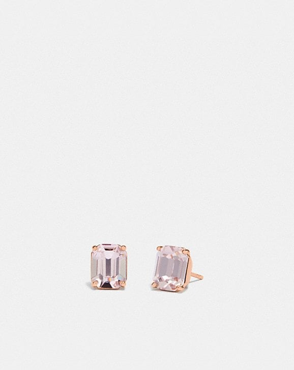 Coach EMERALD CUT STUD EARRINGS