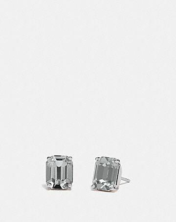 emerald cut stud earrings