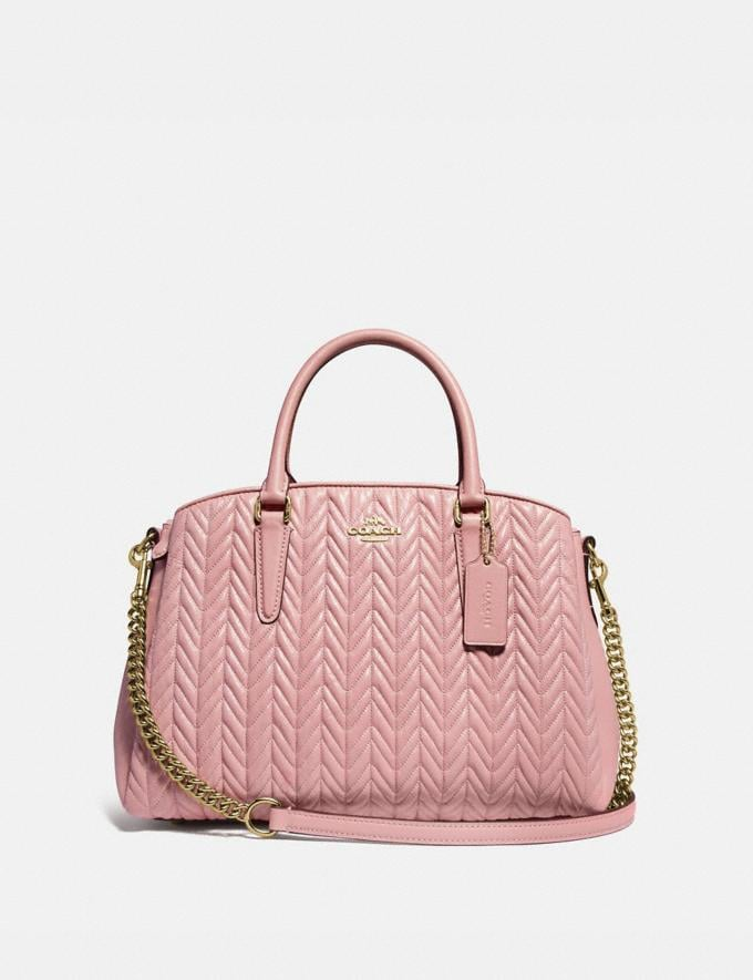 Coach Sage Carryall With Quilting Im/Pink Petal