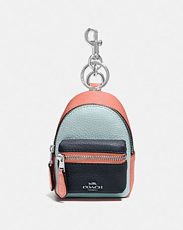 backpack coin case in colorblock