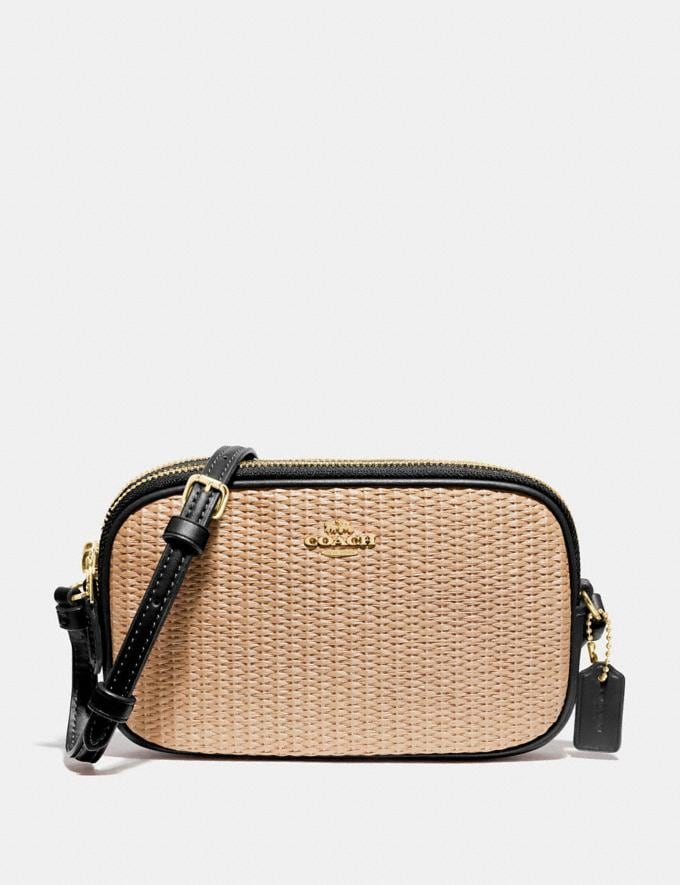 Coach Crossbody Pouch Natural Black/Gold Explore Bags Bags New Arrivals