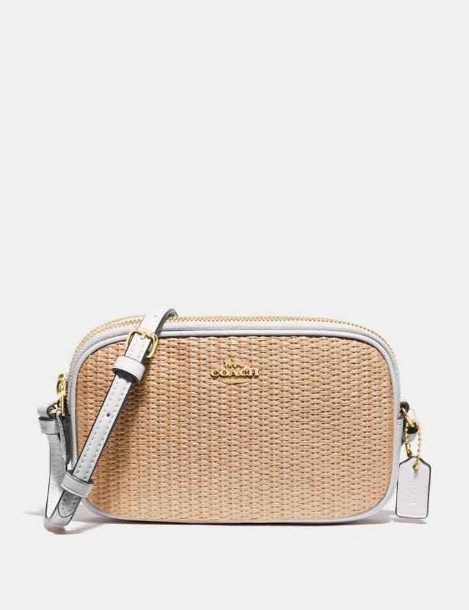Coach Crossbody Pouch Natural Chalk/Gold Explore Bags Bags Crossbody Bags