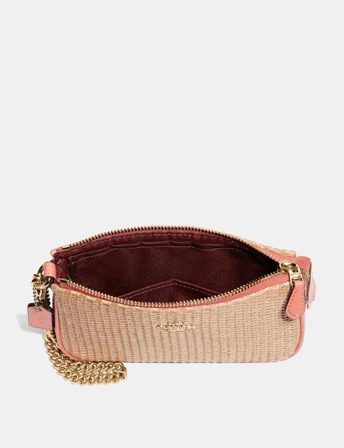Coach Large Wristlet 19 Natural Light Coral/Gold Explore Bags Bags Clutches Alternate View 1
