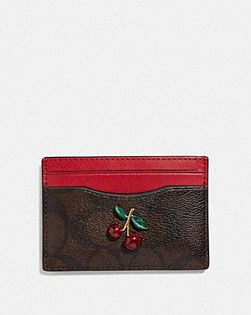 card case in signature canvas with fruit