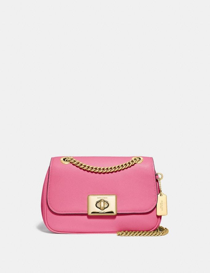 Coach Mini Cassidy Crossbody Pink Ruby/Gold Explore Bags Bags Crossbody Bags