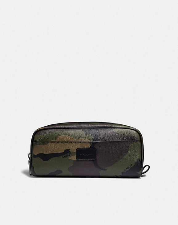 Coach DOPP KIT WITH CAMO PRINT