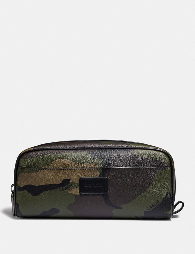 Coach Dopp Kit With Camo Print Dark Gree/Multi Explore Men Explore Men Travel