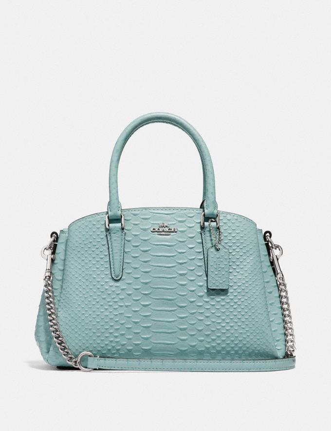 Coach Mini Sage Carryall Seafoam/Silver Clearance Bags