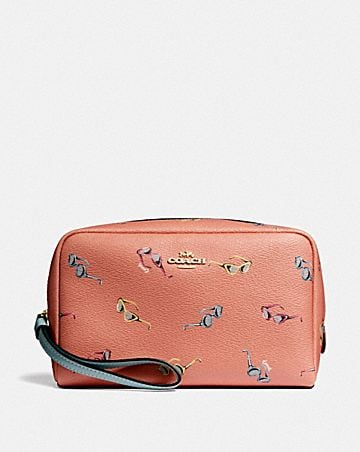 BOXY COSMETIC CASE WITH SUNGLASSES PRINT